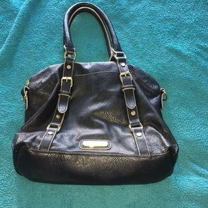 Black and gold Steve Madden bag